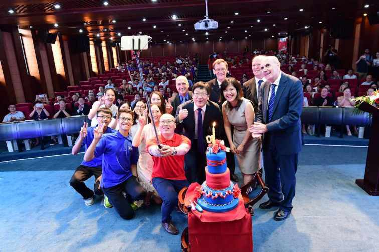 SBC 10 years Group Photo with SBC 10 Years Birthday Cake.jpg