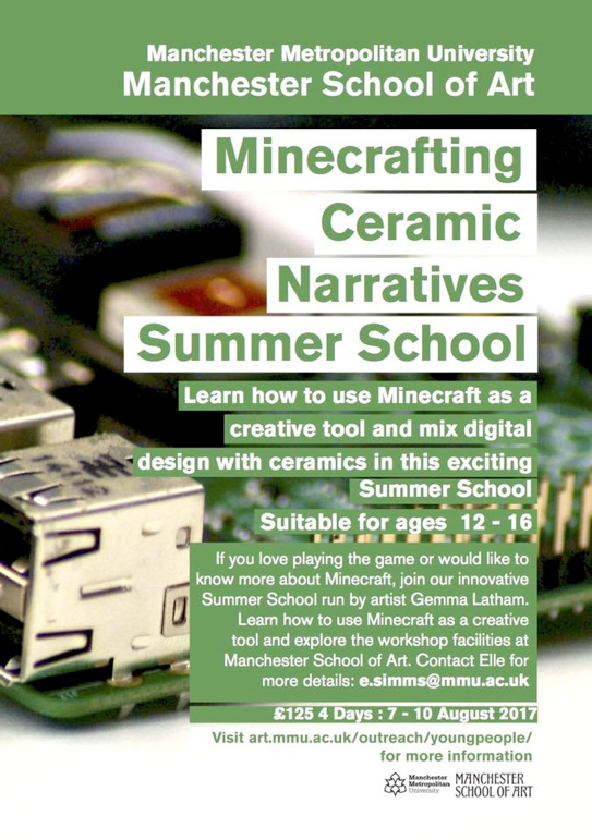 Minecraft and Clay flyer